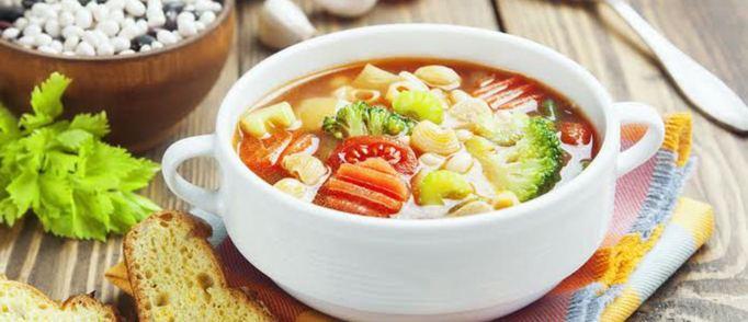 """Пошаговый рецепт приготовления овощного супа """"Минестроне"""""""
