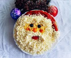 Пошаговый рецепт приготовления салат дед Мороз