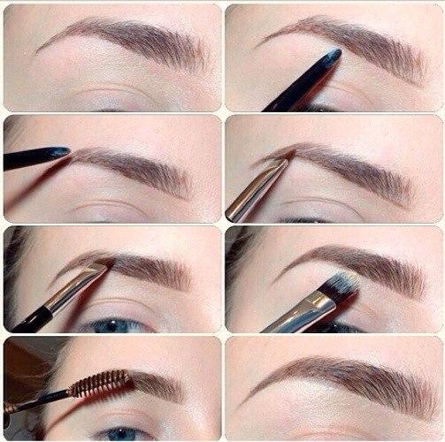 Правильный макияж - залог успеха как правильно наносить макияж брови