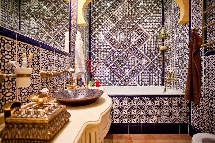 декорирование ванной комнаты в турецком стиле