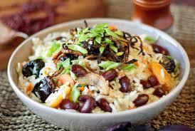 рецепт вегетарианского риса с фасолью