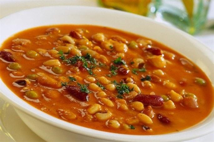 чесночный суп с фасолью