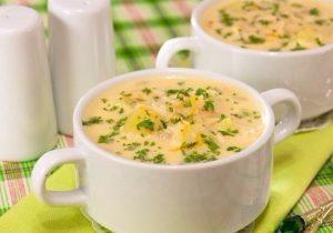 Сырный крем суп по – английский