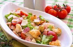 Пошаговый рецепт приготовления овощного салата с беконом