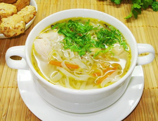 Пошаговый рецепт приготовления суп куриный с лапшой-