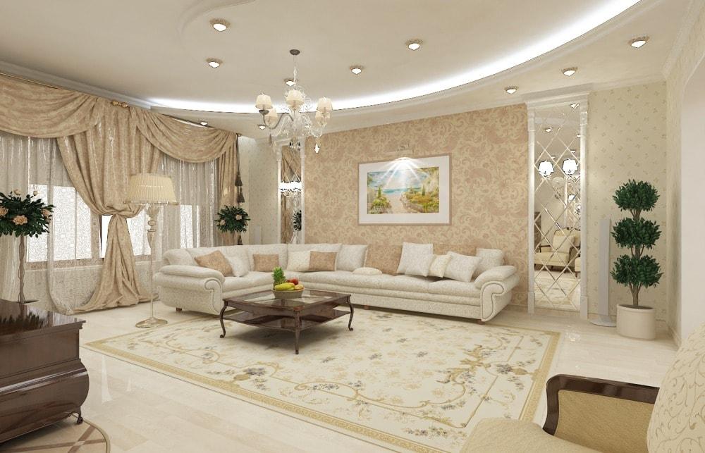 Создание классического стиля в интерьере гостиной